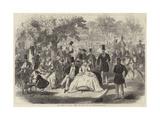 The Season in Paris, Entre Les Lacs, Bois De Boulogne Giclee Print by Jules Pelcoq