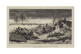 The Shipton Railway Accident, Scene of the Catastrophe Giclee Print by Joseph Nash