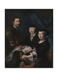 The Artist with His Family, 1624-1670 Giclee Print by Karel van III Mander