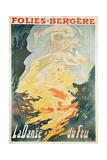 Folies Bergere: La Danse Du Feu, France 1897 Giclee Print by Jules Chéret