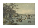 Skating in Hyde Park, C.1785 Giclee Print by Julius Caesar Ibbetson