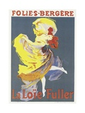Poster Advertising a Dance Performance by Loie Fuller at the Folies-Bergere Giclee Print by Jules Chéret