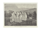 Pictures at the Paris Salon, Jeunes Filles Se Rendant a La Procession Giclee Print by Jules Breton