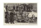 Visiting an Ironclad in a Gale-Trippers Coming on Board Giclee Print by Joseph Nash