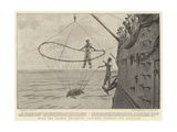 With the Pacific Squadron, Catching Turtles Off Acapulco Giclee Print by Joseph Nash