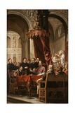 The Conversion and Baptism of St. Augustine by St. Ambrose, 1673 Giclee Print by Juan de Valdes Leal