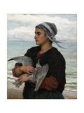 The Wounded Sea Gull, 1878 Impression giclée par Jules Breton