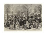 The Paris Easter Promenade at Longchamps Giclee Print by Jules Pelcoq