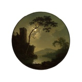 Lake with Castle on a Hill, 1787 Giclee Print by Joseph Wright of Derby