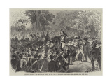 Attempt to Shoot the Emperor of Russia in the Bois De Boulogne, Seizure of the Assassin Giclee Print by Jules Pelcoq