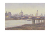 Bankside - Dusk Giclee Print by Julian Barrow