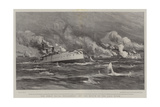 The Great Naval Engagement Off the Mouth of the Yalu River Giclee Print by Joseph Nash