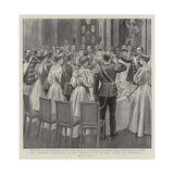 The Wedding Breakfast in the Throne Hall of the Castle of Ehrenburg Giclee Print by Joseph Nash