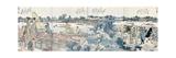 Bookplates of Landscape Scenes from the Ehon Sumidagawa Ryogan Ichiran Giclée-Druck von Katsushika Hokusai