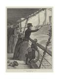Christmas Greetings at Sea Giclee Print by Julius Mandes Price