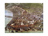 Battle of Turin, 1706. Painting by Joseph Parrocel (1646-1704) Giclee Print by Joseph Parrocel