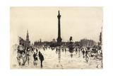 Nelson Monument, Trafalgar Square, London, 1887 Giclee Print by Joseph Pennell