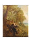 Keats Listening to the Nightingale on Hampstead Heath, 1845 (See also 145175) Giclee Print by Joseph Severn