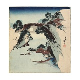 Moon Underneath the Bridge, 1811-1820 Giclée-Druck von Katsushika Hokusai