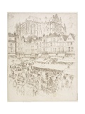 La Place, Beauvois, 1907 Giclee Print by Joseph Pennell