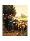 The Young Shepherdess, C.1900 Giclee Print by Julien Dupre