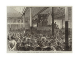 The Right of Meeting at Paris, M Ducasse Speaking at the Salle Des Folies-Belleville Giclee Print by Jules Pelcoq