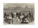 Skating on the Lake of Suresne, Bois De Boulogne, Paris Giclee Print by Jules Pelcoq