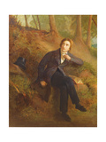 Detail of Keats Listening to the Nightingale on Hampstead Heath, 1845 (See also 145174) Giclee Print by Joseph Severn