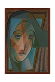 Head of a Harlequin; Tete D'Arlequin, 1924 Giclee Print by Juan Gris