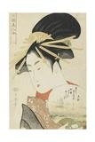 Courtesan Konosumi, 1793-1794 Gicléetryck av Kitagawa Utamaro