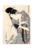 Hairdresser from the Series 'Twelve Types of Women's Handicraft', C.1797-98 Giclee Print by Kitagawa Utamaro