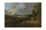 Landschaft mit Regenbogen Giclée-Druck von Lucas Van Uden