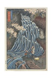 So Men (Wheat Noodle) Waterfall, 1844-1848 Giclee Print by Keisai Eisen