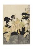 Yugiri and Izaemon, C. 1801 Giclee Print by Kitagawa Utamaro