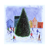 Skating around the Tree, 2003 Giclee Print by Kirsty Walker