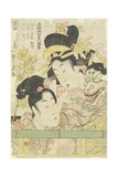 Two Courtesans in the Roles of Koi-Shigure Momiji No Rodai, 1781-1806 Giclee Print by Kitagawa Utamaro