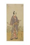 (An Actor in a Samurai Role Holding a Bamboo Flute) Giclee Print by Katsukawa Shunsho