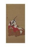 Nikuhitsu Ukiyo-E: Ichikawa Danjuro V in the Shibaraku Role, C. 1778 Giclee Print by Katsukawa Shunsho