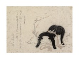 New Year's Day of the Year of Horse, Early 19th Century Giclee Print by Katsushika Hokusai