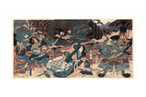 Fujiwara No Hidesato No Mukade Taiji Giclee Print by Kubo Shunman