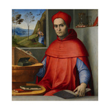 Portrait of a Cardinal in His Study, C.1510-20 (Oil and Tempera on Poplar Panel) Giclee Print by Lorenzo Costa