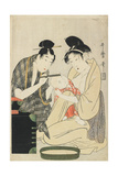 Shaving a Boy's Head, Edo Period, C.1801 Giclee Print by Kitagawa Utamaro