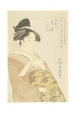 Courtesan Hanaogi of the Ogiya House, 1793-1794 Giclee Print by Kitagawa Utamaro