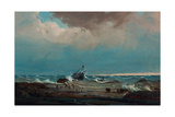 The Wreck of the 'George the Third', 1850 Giclee Print by Knud Geelmuyden Bull