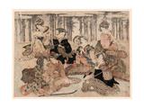 Chikurin No Kabe No Mae No Shichikenjin Giclee Print by Kubo Shunman