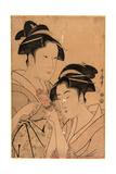 Kagiya Osen to Takashima Ohisa Giclee Print by Kitagawa Utamaro