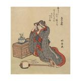 Woman Fixing Her Hair, 1797-1819 Giclee Print by Katsushika Hokusai