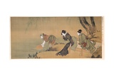 Cooling Off on a Summer Evening Giclee Print by Katsushika Hokusai