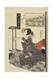 Rainy Night with a Regular Customer, C. 1820s Giclee Print by Keisai Eisen