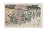 No.10 Fukaya Station, 1830-1844 Giclee Print by Keisai Eisen
